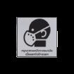 รูปของ ลาเบล กรุณาสวมหน้ากากอนามัย STICKER ON DEMAND LASER ENGRAVING LABEL เลเซอร์มาร์คกิ้งลาเบล ขนาด 80 X 80 มิลลิเมตร