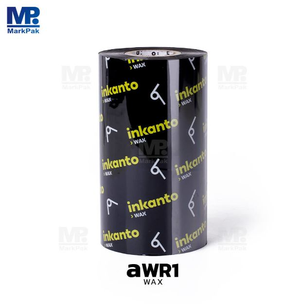 Picture of INKANTO AWR1 Size 110mm X 300m F/O แกน 1 นิ้ว Wax Ribbon หมึกริบบอน (PN: T57806IO)