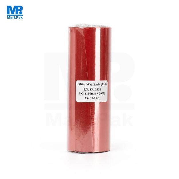 รูปของ RICOH B310A Size 110mm X 300m F/O แกน 1 นิ้ว Wax Resin หมึกริบบอน สีแดง