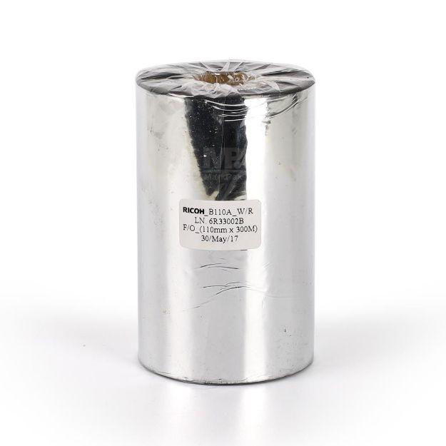 Picture of RICOH B110A Size 110mm X 300m F/O แกน 1 นิ้ว Wax Resin Ribbon หมึกริบบอน