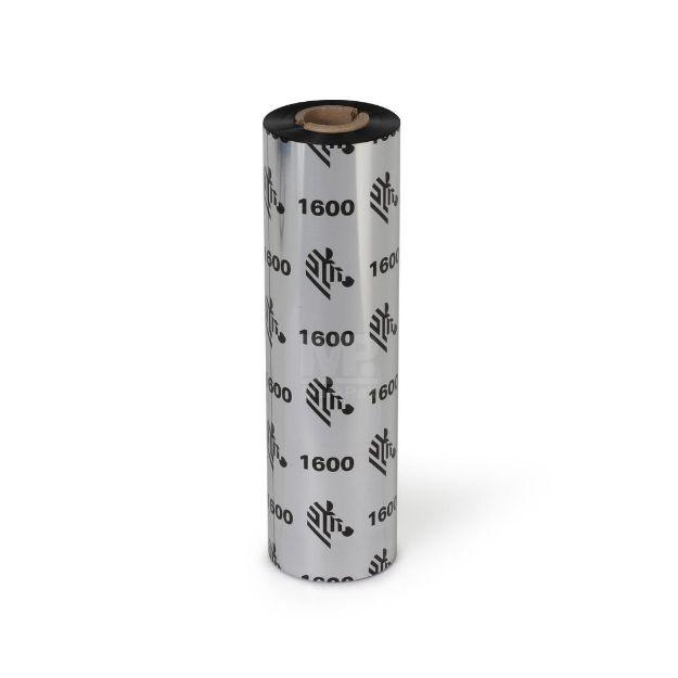 Picture of ZEBRA JC1600BK11007 Size 110mm X 74m แกน 0.5 นิ้ว Wax Ribbon หมึกริบบอน