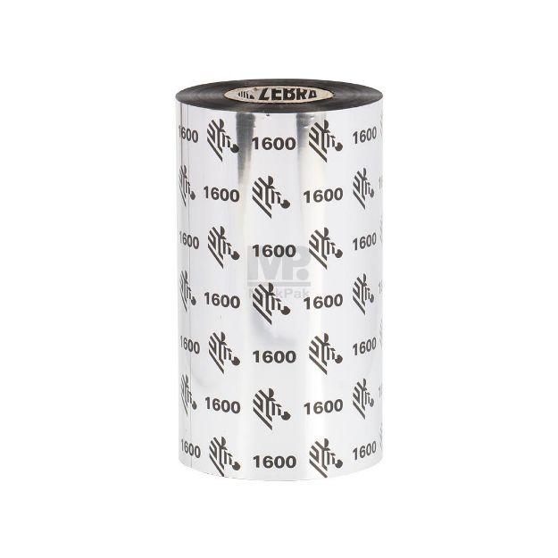 Picture of ZEBRA J1600BK11030 Size 110mm X 300m F/O แกน 1 นิ้ว Wax Ribbon หมึกริบบอน