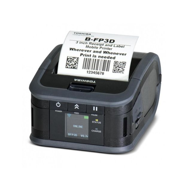 รูปของ TOSHIBA B-FP3D-GS40-QM-R เครื่องพิมพ์ลาเบลแบบมือถือ Mobile Receipt Printer (WLAN)