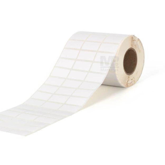 รูปของ ST.TT Size 30 x 10 mm 5,000 ดวง/ม้วน แกน 1.5 นิ้ว สติ๊กเกอร์กระดาษ กึ่งมันกึ่งด้าน (ใช้ร่วมกับ Wax Ribbon หรือ Wax Resin Ribbon)