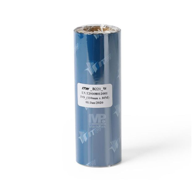 Picture of ITW B221 Size 110mm X 300m F/O แกน 0.5 นิ้ว Wax Ribbon หมึกริบบอน