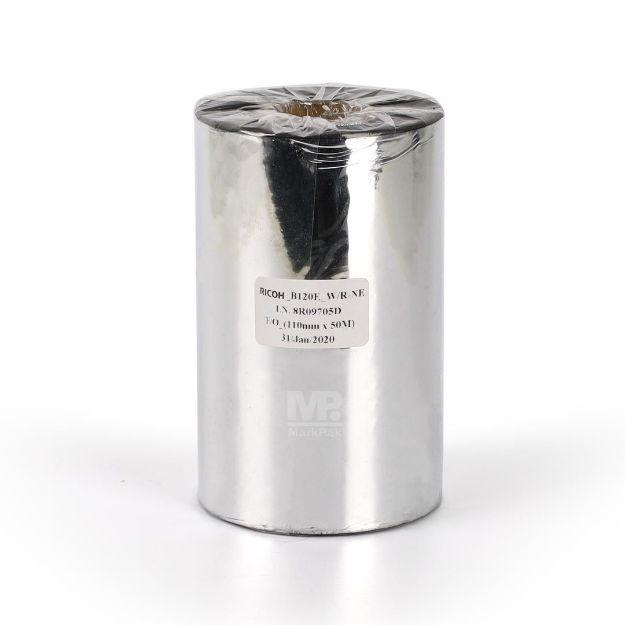 Picture of RICOH B120E Size 110mm X 300m F/O แกน 1 นิ้ว Wax Resin Premium Ribbon หมึกริบบอน